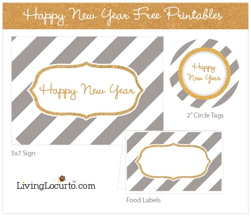 Happy New Year Free Printables by Amy at LivingLocurto.com