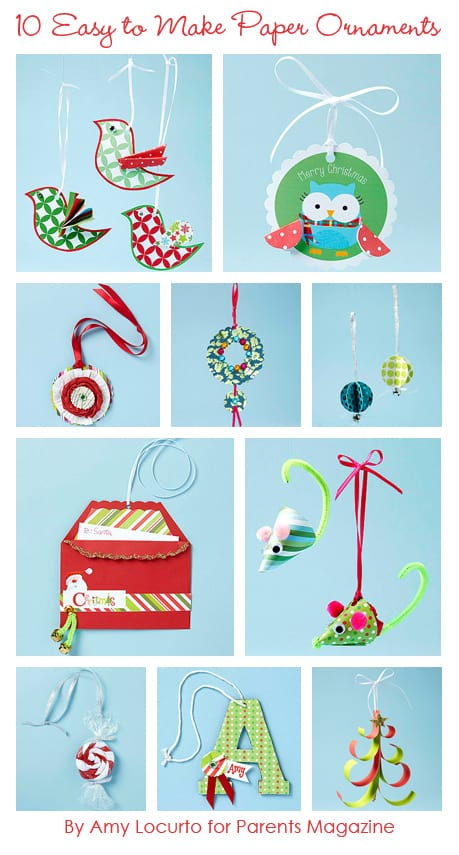 So cute! 10 Easy to Make Paper Christmas Ornaments by LivingLocurto.com