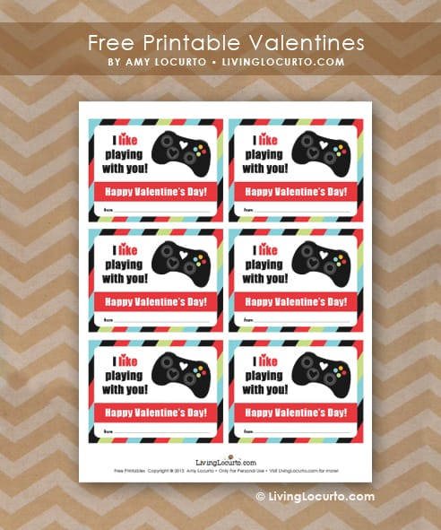 Free Printable Video Game Valentines