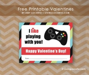 Free Printable xBox Game Valentine by Amy Locurto at LivingLocurto.com