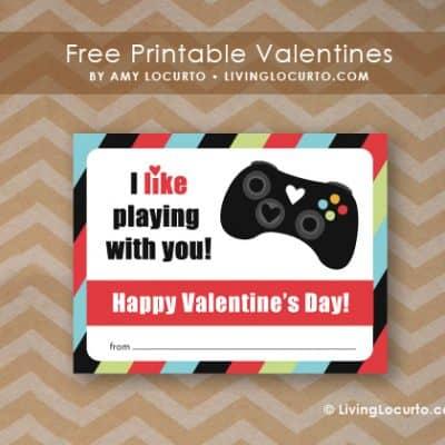 Video Game Valentine Printables