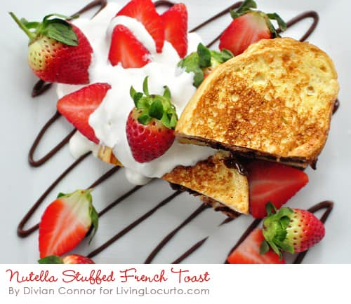 Nutella French Toast - Easy chocolate hazelnut and strawberry breakfast Recipe.