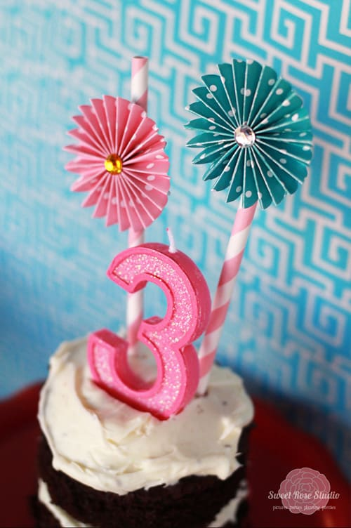 Cupcake Party Ideas by Sweet Rose Studio   Cute Paper Flower Stickers by Party with Amy Locurto
