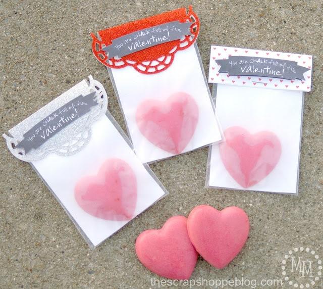 glitter chalk valentine
