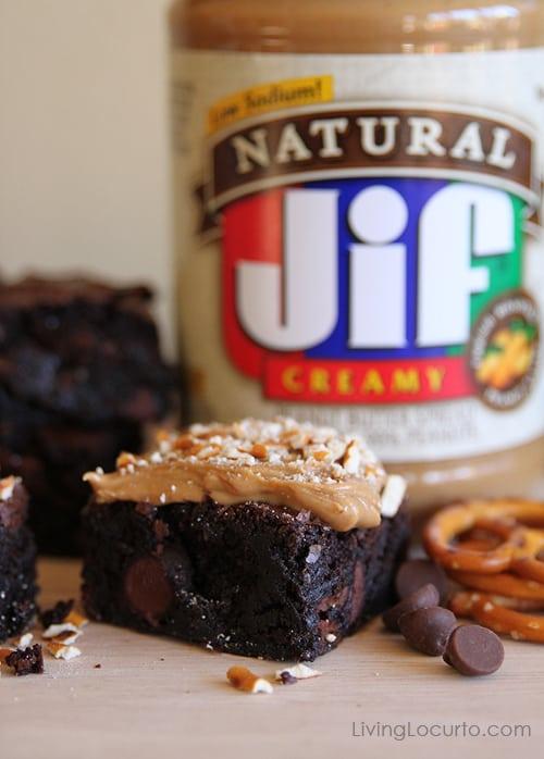 Dark Chocolate Salted Peanut Butter Brownies   Living Locurto   Easy Recipe
