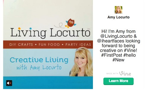 Amy Locurto from LivingLocurto.com on Vine - She tells why she likes Twitter's new App!