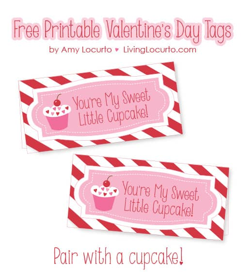 Free Printable Valentines Day Cupcake Tags | Living Locurto