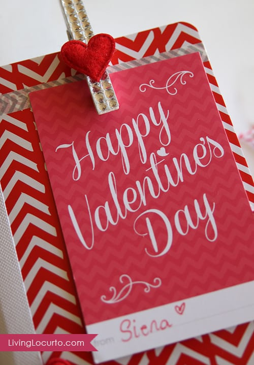 Homemade Teacher Valentine's Day Gift Idea | Craft | Free Printables | Living Locurto