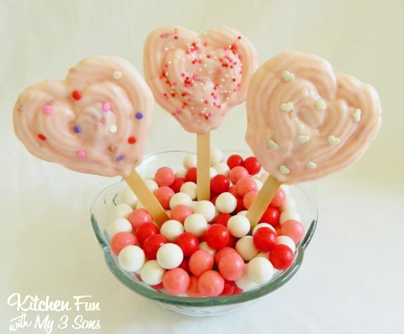 Valentine Heart Frozen Yogurt Pops by Kitchen fun with my 3 Sons | Valentine's Day Recipe Ideas  Desserts