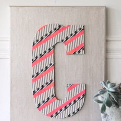 Washi Tape Wall Art {DIY Craft}