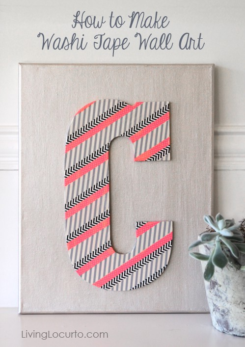 How To Make Washi Tape Wall Art. Easy Craft Idea By Amy At LivingLocurto.