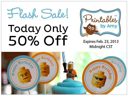 Flash Sale for Party PrFlash Sale for Party Printables by Amy Locurtointables by Amy Locurto