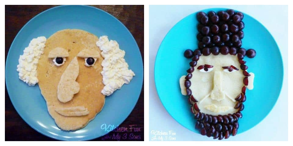 George Washington, Abraham Lincoln President Pancakes | Living Locurto