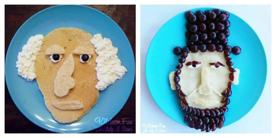 George Washington, Abraham Lincoln President Pancakes | Living Locurto