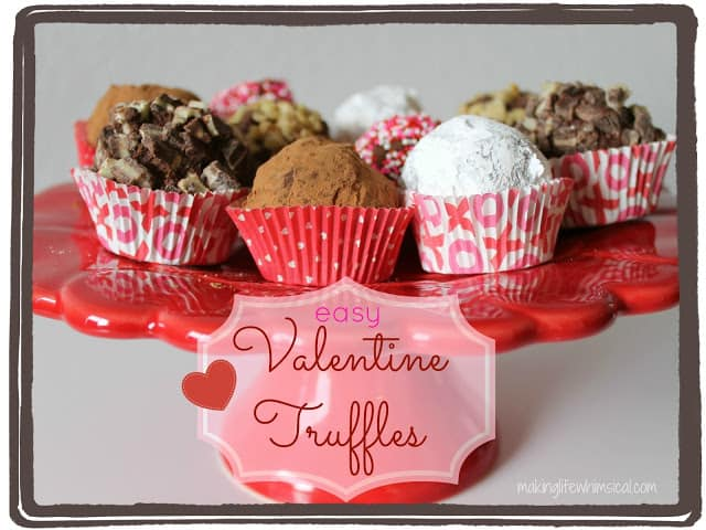 Easy Valentine Truffles | Recipe Ideas | Desserts | Living Locurto #LivingCreative