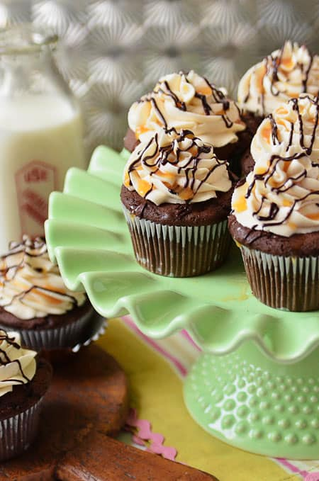 Bailey's Chocolate and Caramel Ice Cream Cupcakes by Tidymom