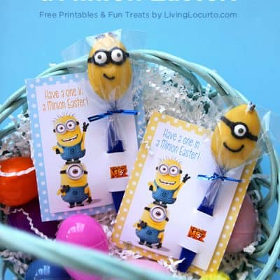Minion Candy Spoons & Easter Printables