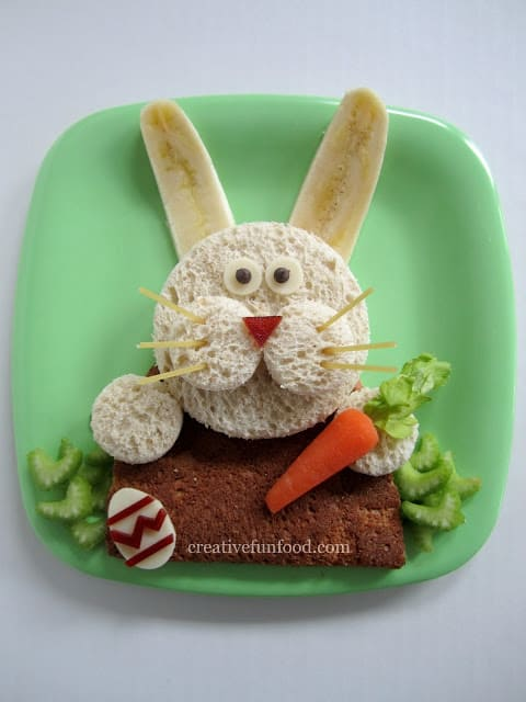 Easter Bunny Bento Sandwich Lunch