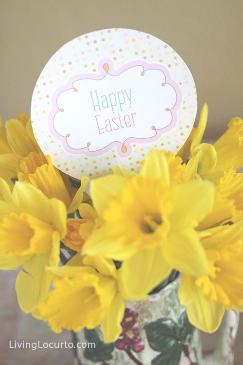Easy #Easter Breakfast Idea with Free Party Printables via LivingLocurto.com