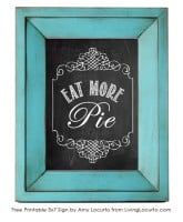Eat More Pie Chalkboard Wall Art {Free Printable}