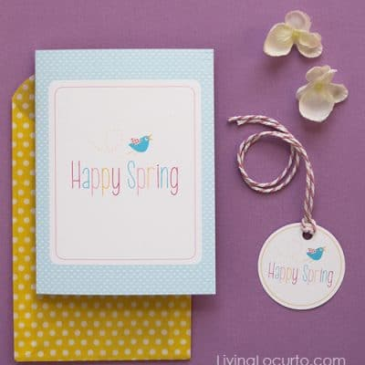 Happy Spring – Free Printable Card