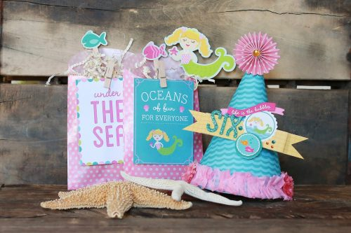 Mermaid Party favors | DIY party hat | Party with Amy Locurto - Scrapbook & Party Designs | Mermaid Party Ideas