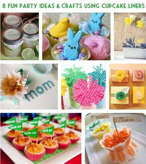 8 Party Ideas and Crafts with Cupcake Liners