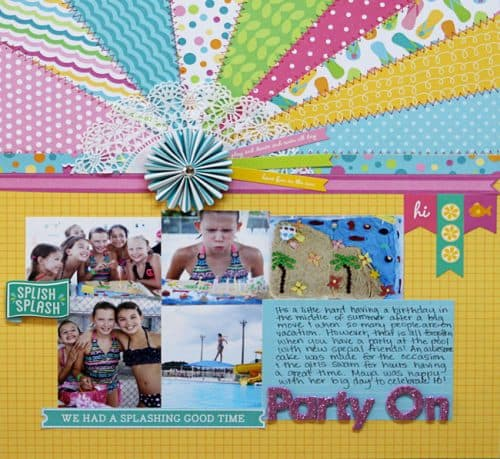 Scrapbook design with Party with Amy Locurto - #Scrapbook & #Party Designs