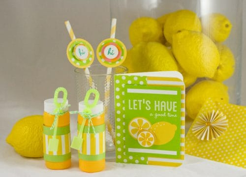 Cute Lemon and Pool party favors with Party with Amy Locurto - Scrapbook & Party Designs