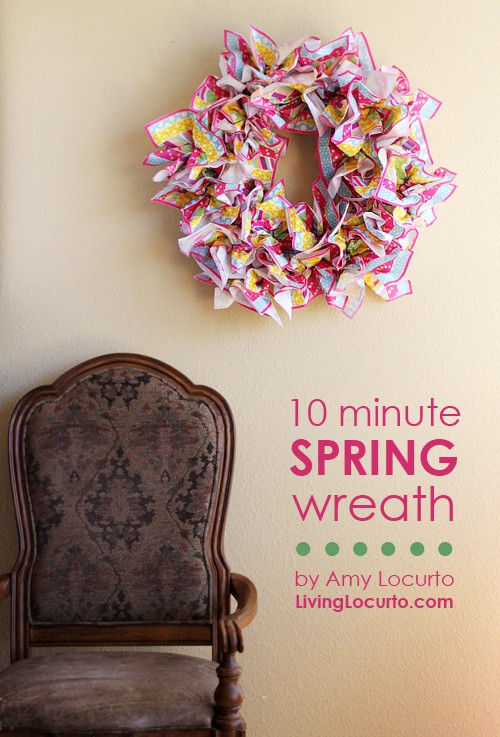 Easy Spring Wreath ~ You won't believe what it's made with!!! LivingLocurto.com