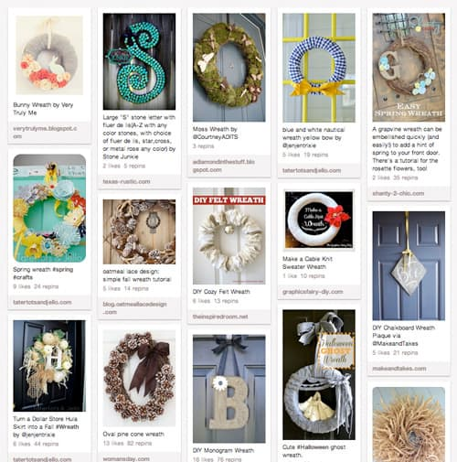 Holiday and Spring Wreath Ideas Pinterest Board by Living Locurto