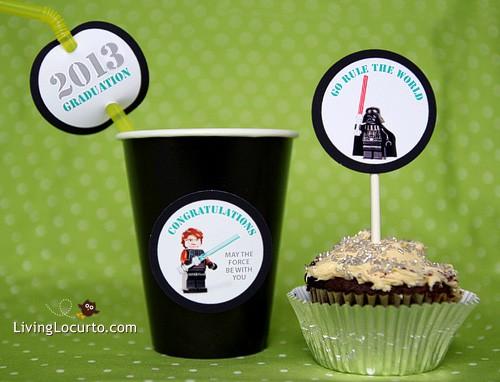 Star Wars Legos Graduation Free Party Printables