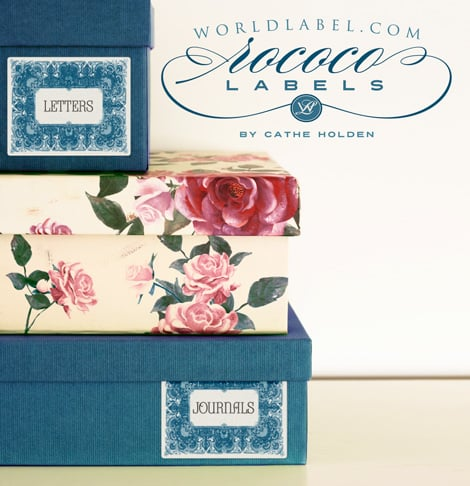 "Free Printable Vintage French ""Rococo"" designed labels by Cathe Holden"