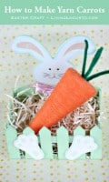 How to Make Yarn Carrots {Easter Craft}