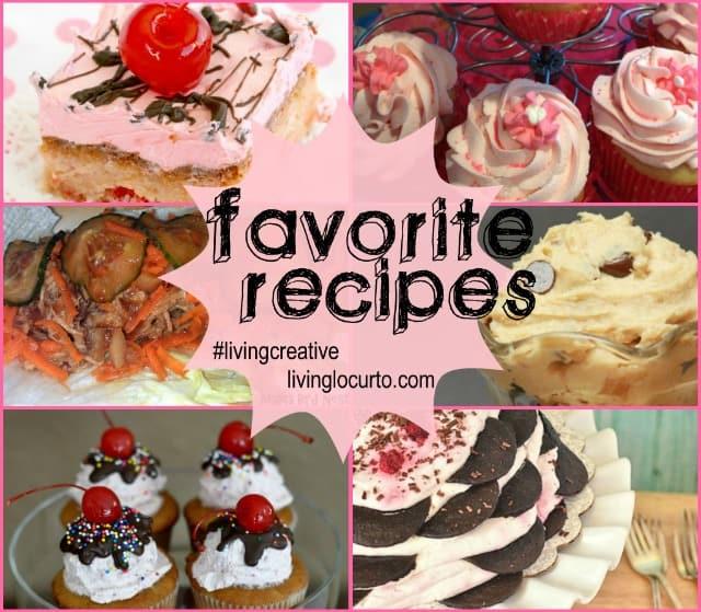 Favorite Recipes shared on Living Creative Thursday at LivingLocurto.com