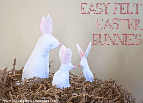 Free No Sew Felt Easter Bunny Craft Template
