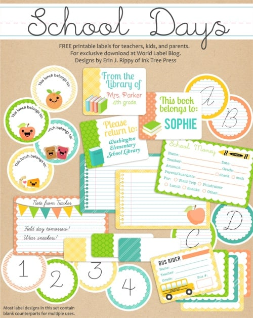 Free Printable School Days Printables & Labels