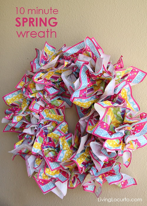 Easy 10 Minute Spring Wreath Idea. LivingLocurto.com