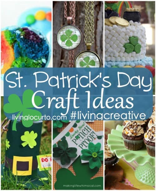 St. Patrick's Day Craft Ideas #LivingCreative Thursday on LivingLocurto.com