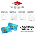 World Label Giveaway {Free Visa Gift Cards!}