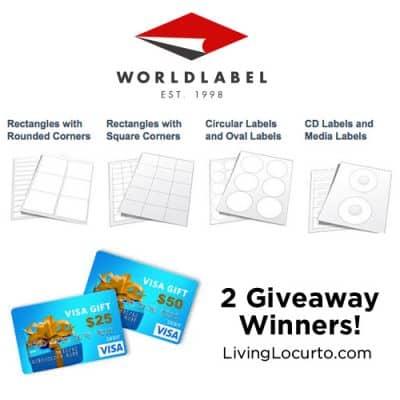 World Label Giveaway {Free Visa Gift Cards!}