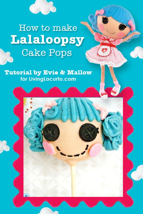 Sep-by-step instructions on how to make Lalaloopsy Cake Pops! LivingLocurto.com