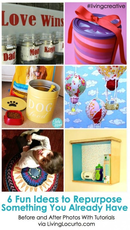 6 Fun Ideas to Repurpose Something You Already Have! Living Creative Thursday on LivingLocurto.com