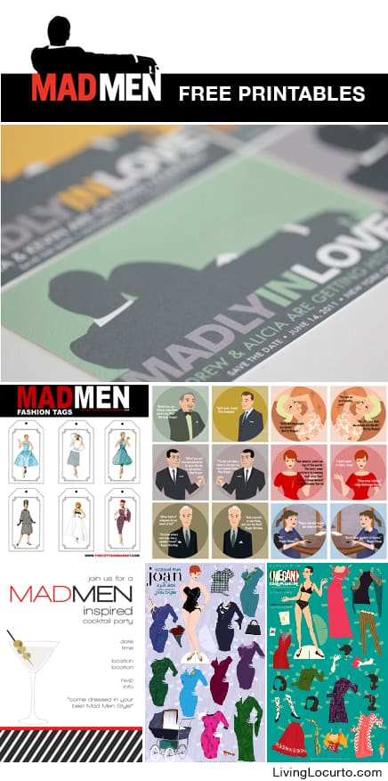 Mad Men Free Party Printables - Party Ideas - Living Locurto