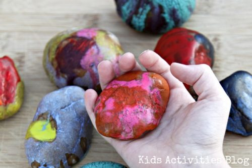 Melted Crayon Art by Kids Activities Blog