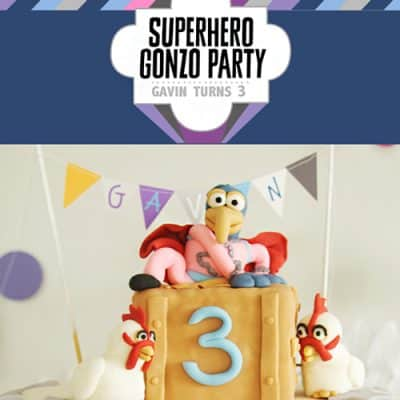 Superhero Gonzo Muppet Party {Free Printables}