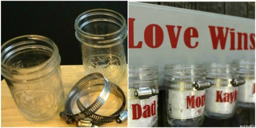 Love Wins Mason Jar Love Notes Repurposed by Amy and Michaela from Making Life Whimsical