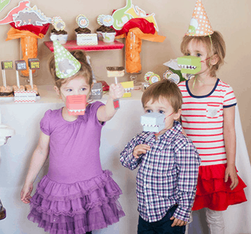 Dino Themed Party by Strawberry Mommy Cakes