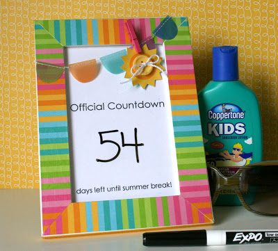 Summer Countdown Craft Idea {Party with Amy Locurto}