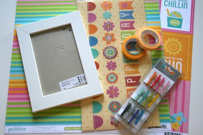 Summer Countdown Frame Tutorial - Scrapbook Project - Party with Amy Locurto for Pebbles Inc.